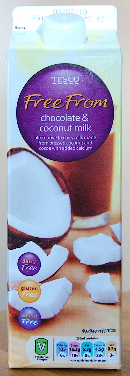 Tesco Chocolate Coconut Milk Vegan Veggiescouk
